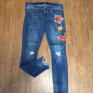 Sequin Flower Jeans (Express)
